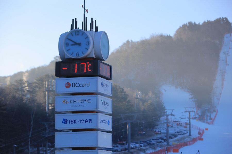 아주 흔한 용평의 겨울 기온은 이렇습니다~ ^^*