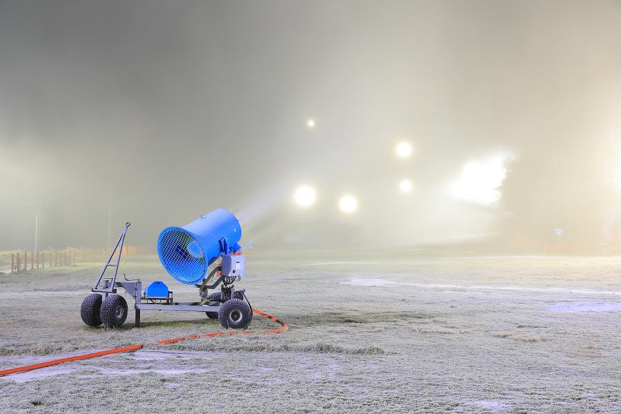 [동영상]용평벌에는 새하얀 눈대포가 펑펑펑!!!