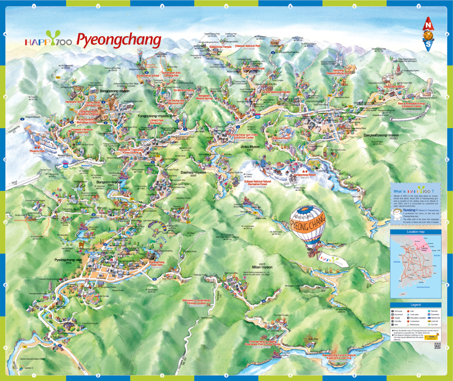Pyeongchang Map
